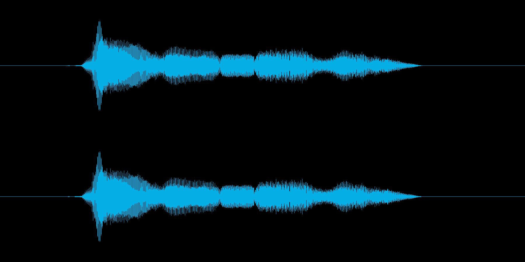 モグモグの再生済みの波形