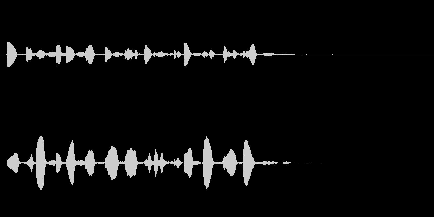 ドラマやアニメの場面転換の音の未再生の波形