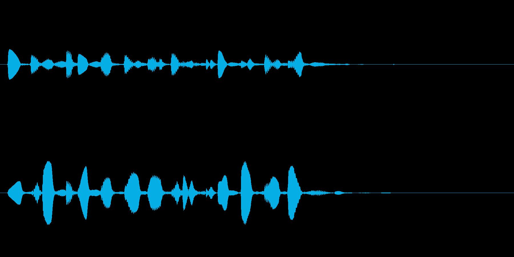 ドラマやアニメの場面転換の音の再生済みの波形
