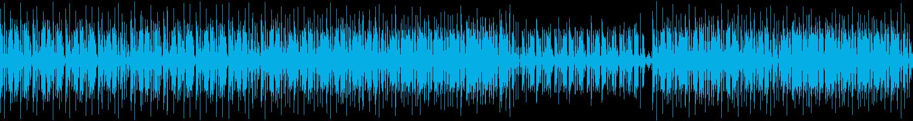 少しダークな雰囲気のあるシンプルなBGMの再生済みの波形