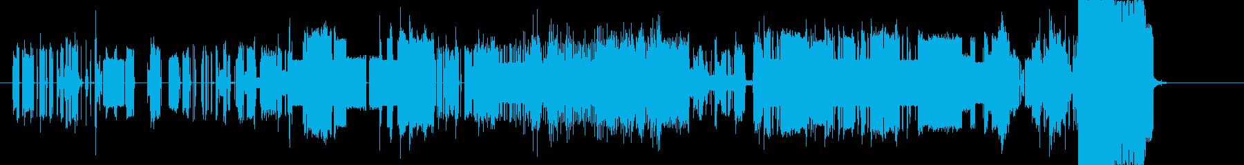 通信障害をイメージしたSEの再生済みの波形