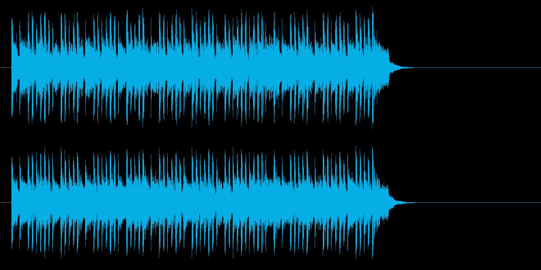 テンポの良いポップ(サビ)の再生済みの波形