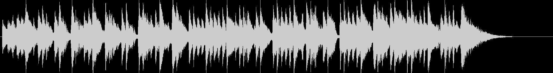 ボサノバ調のおちついた曲の未再生の波形