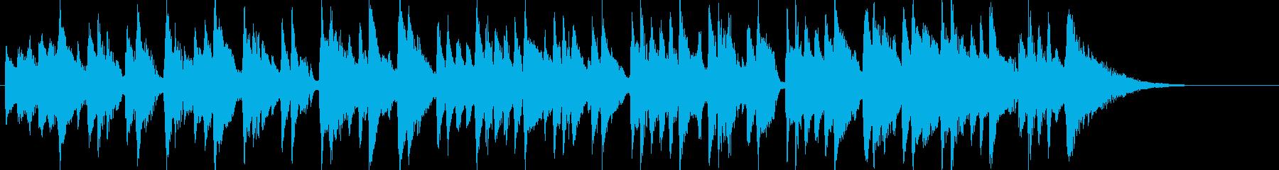 ボサノバ調のおちついた曲の再生済みの波形