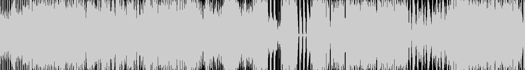 ゲームなどの逃げる感じのダンスBGMの未再生の波形
