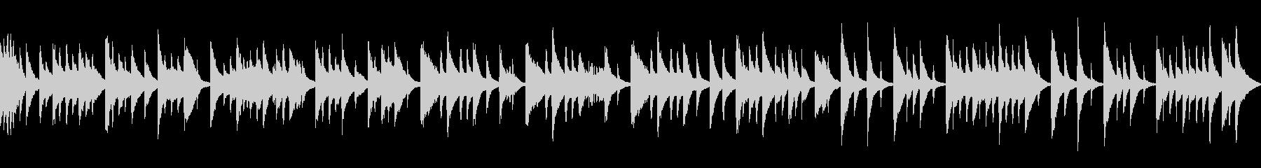 落ち着いた和風な曲 (ループ)の未再生の波形