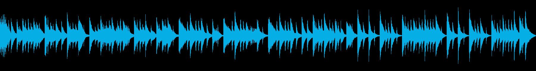 落ち着いた和風な曲 (ループ)の再生済みの波形