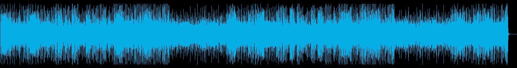 YouTube 軽快で元気なピアノの再生済みの波形