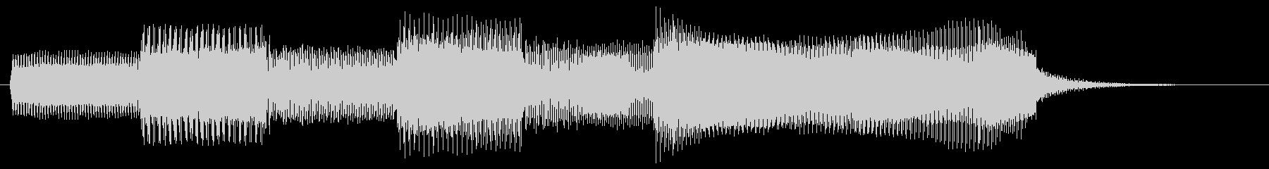 レトロなゲーム風サウンドのゲームクリア音の未再生の波形