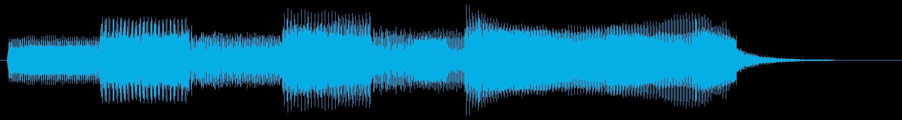 レトロなゲーム風サウンドのゲームクリア音の再生済みの波形
