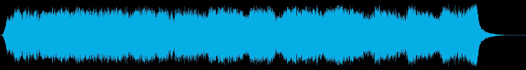 世界破滅を描くハリウッド系オーケストラの再生済みの波形