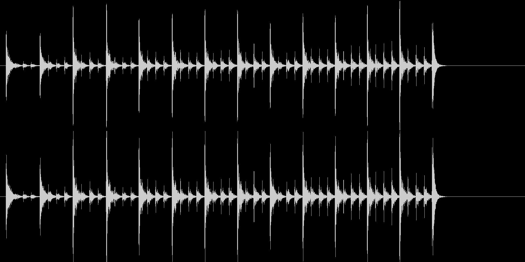 インドのドラム;クラシックなアメリ...の未再生の波形
