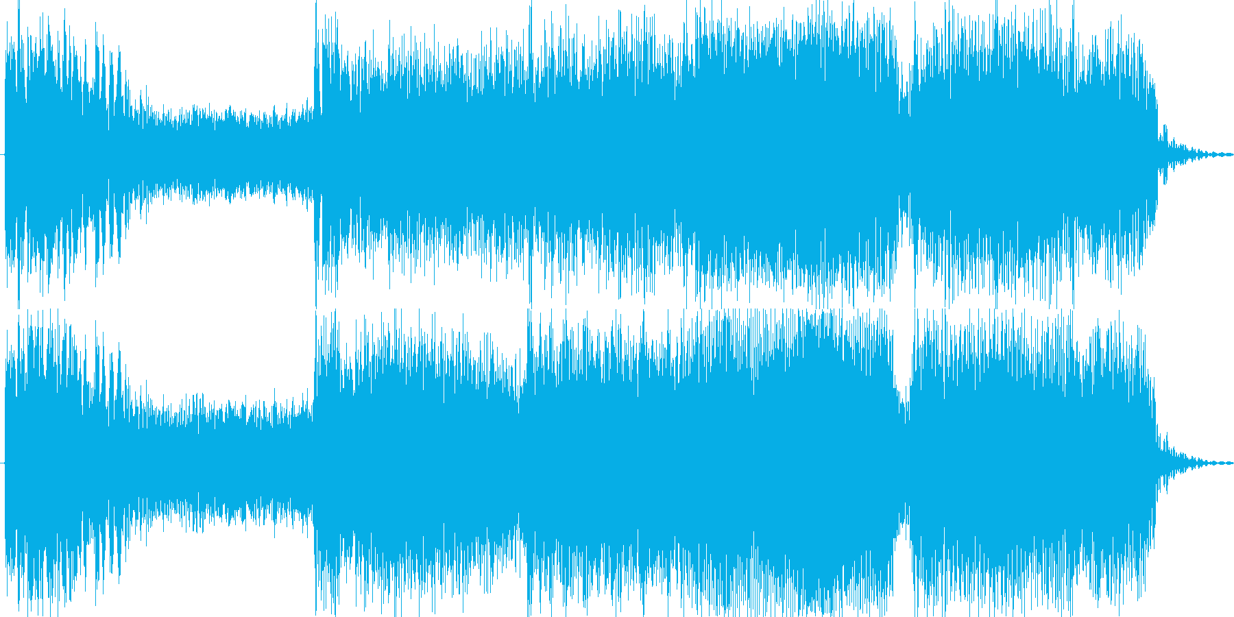 ボタン・レバー・開始音・打撃音の再生済みの波形