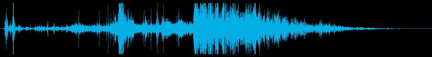 植生のローリングウッドクラッシュの再生済みの波形