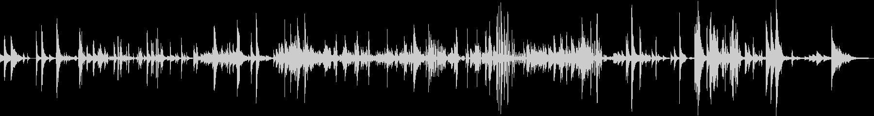 ピアノソロ アート作品 「パラダイム1」の未再生の波形