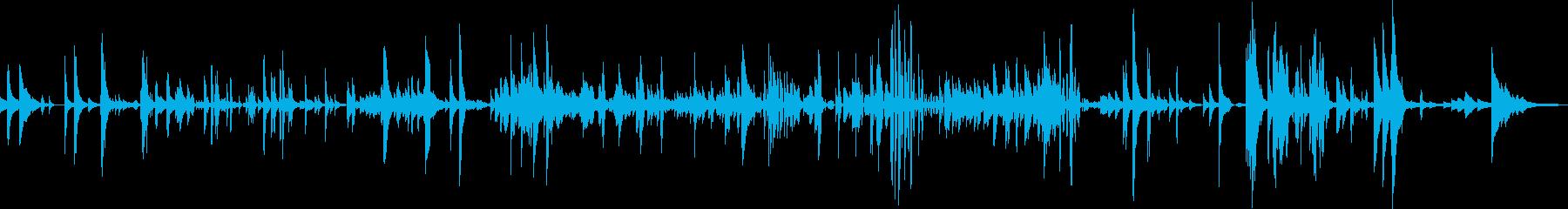 ピアノソロ アート作品 「パラダイム1」の再生済みの波形