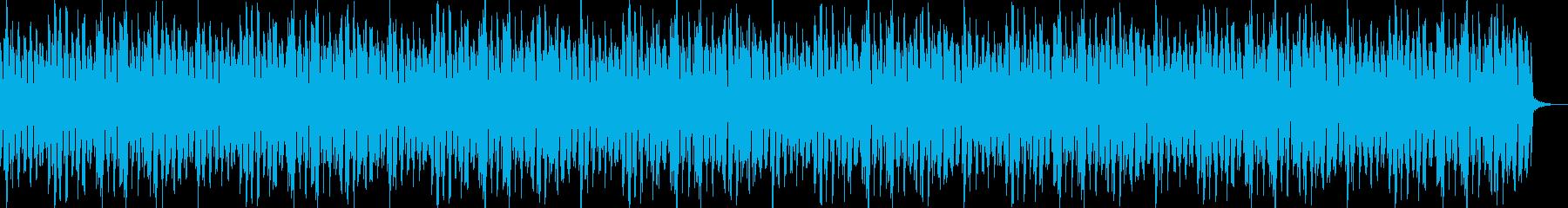 軽快なリズムのピアノBGMの再生済みの波形