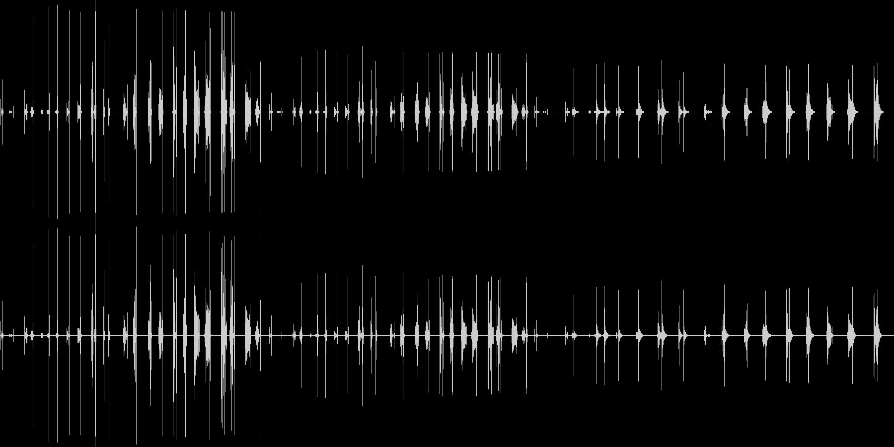 引き出し、木製、11バージョンX ...の未再生の波形