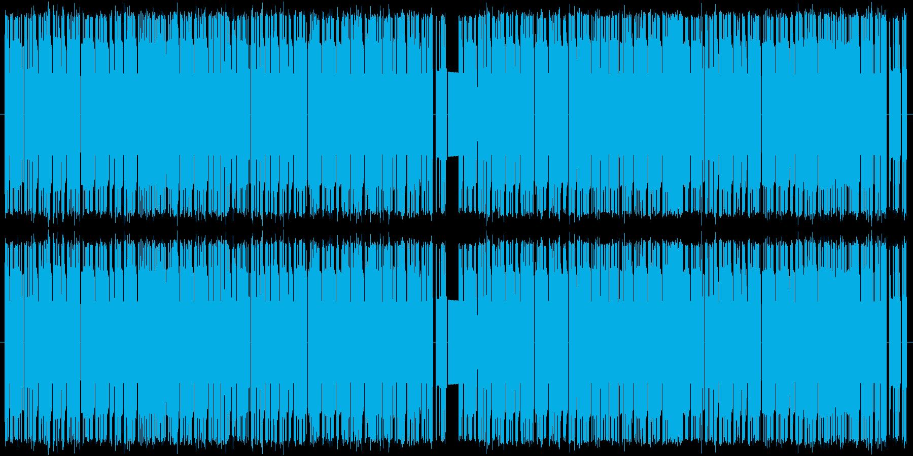 速いテンポの8bitタンゴの再生済みの波形