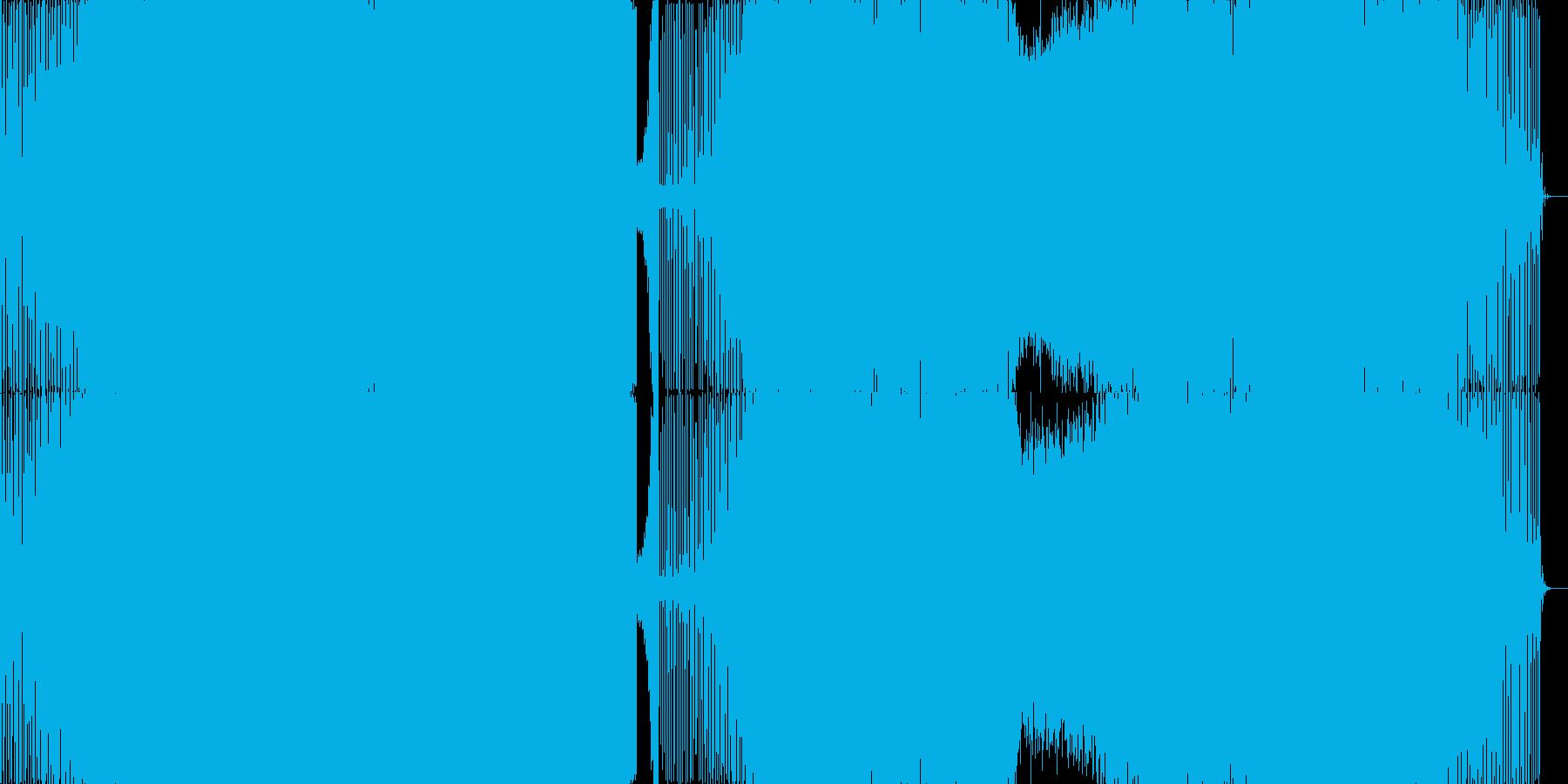 情熱的なEDMの再生済みの波形