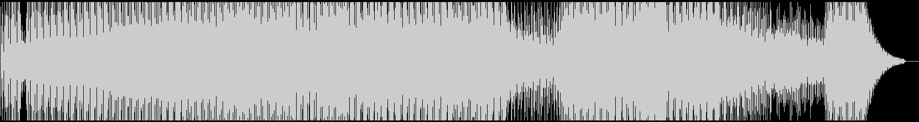牧歌的なハウス系BGMの未再生の波形