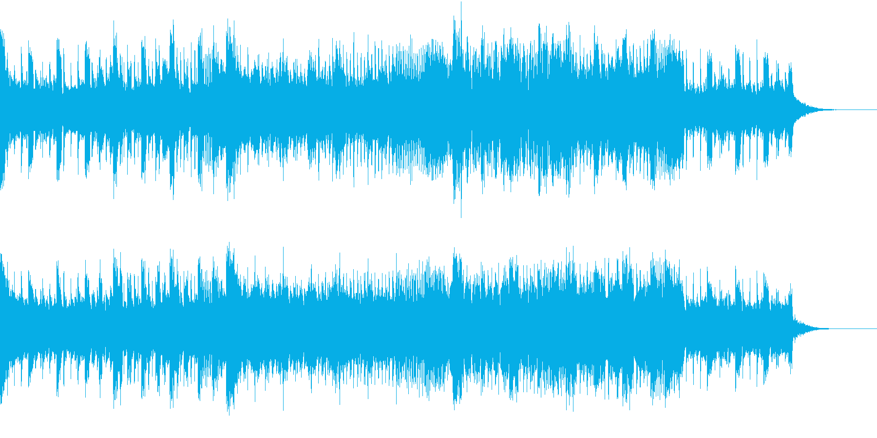 危険な雰囲気のBGMの再生済みの波形