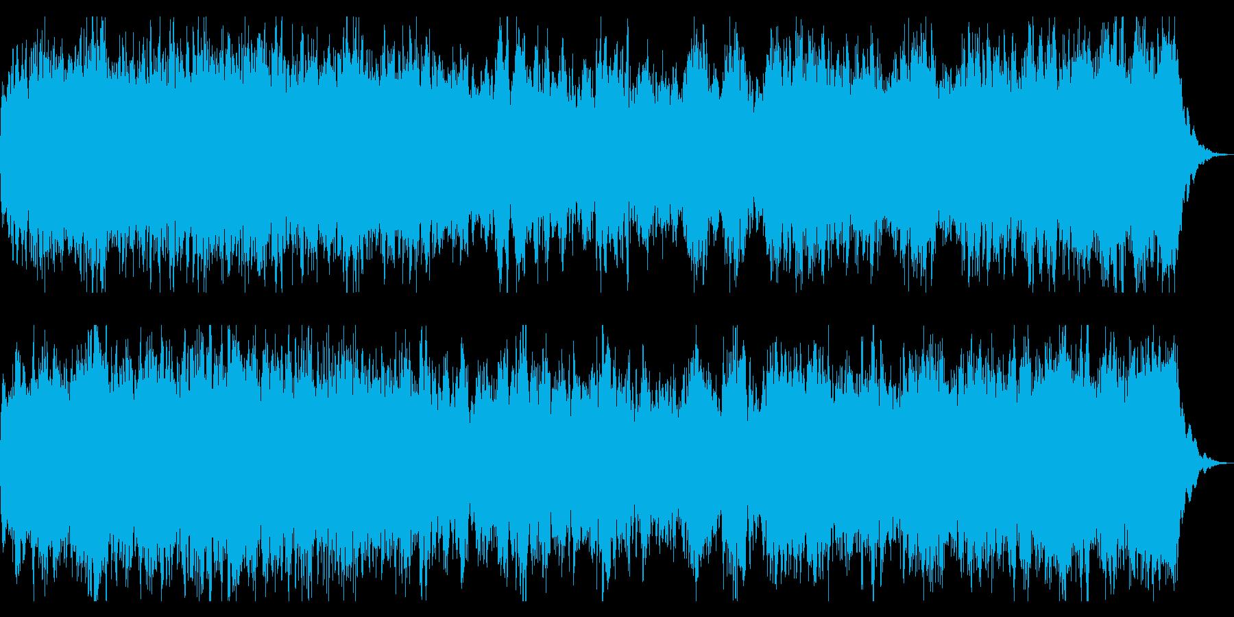 ミステリアスなコーラスとストリングスの再生済みの波形