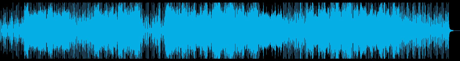 軽快でハッピーなアコースティックポップの再生済みの波形