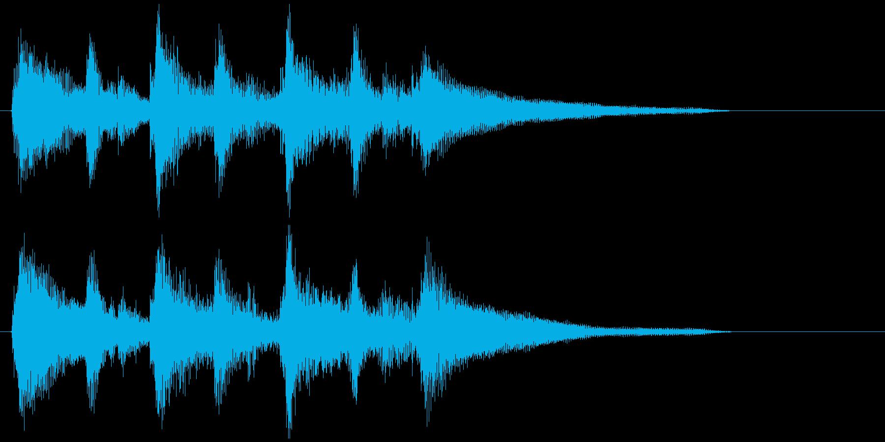 夕暮れ時のアンニュイなジングル、ウクレレの再生済みの波形