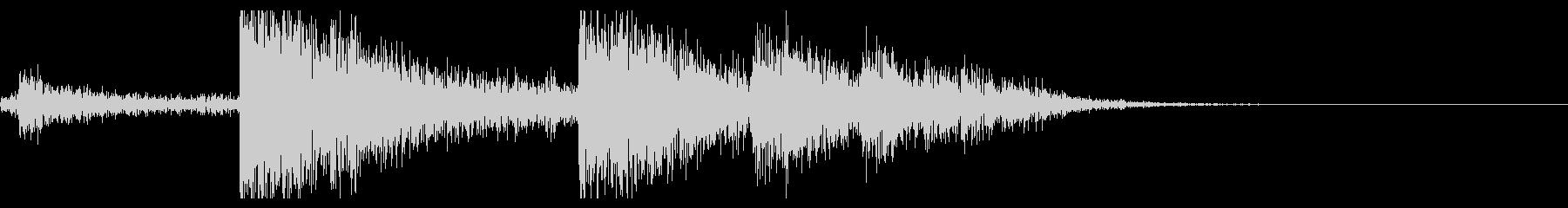 【生録音】ブリキのバケツの音 学校 5の未再生の波形