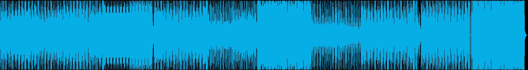 サイケデリックなトランスの再生済みの波形