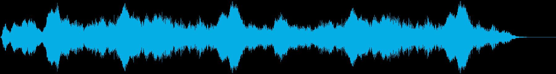 ゆっくり動く光の波光の波の再生済みの波形