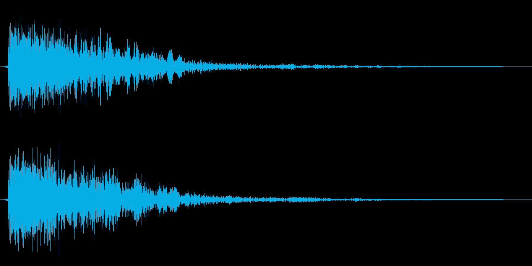 コミカルなダッシュ,ジャンプ効果音!9cの再生済みの波形