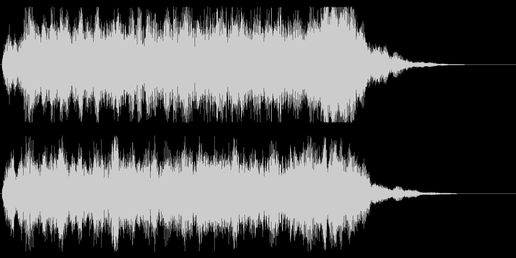 勇壮なジングル オーケストラ パターンBの未再生の波形