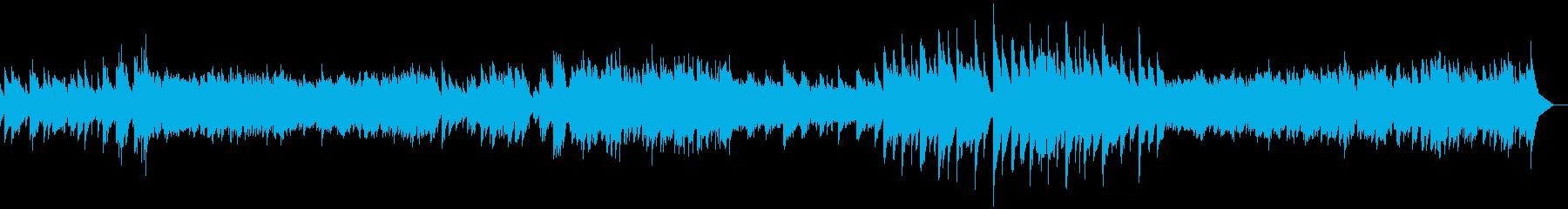 優しい雰囲気のバラード系ピアノソロの再生済みの波形