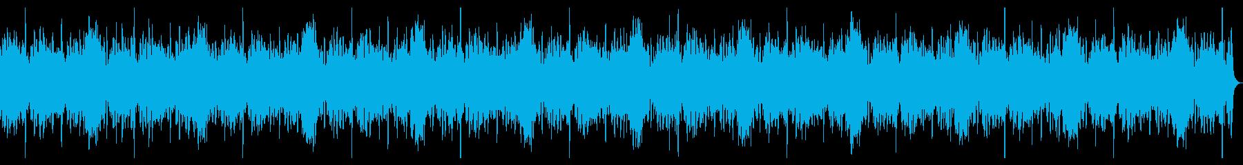 波の音が印象的な明るいBGMの再生済みの波形