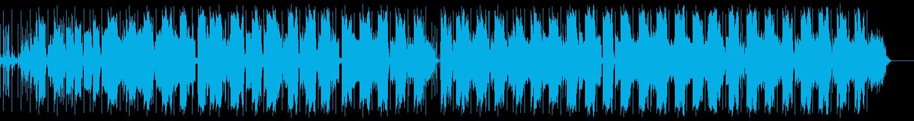 抽象的な音をコラージュした映像音楽の再生済みの波形