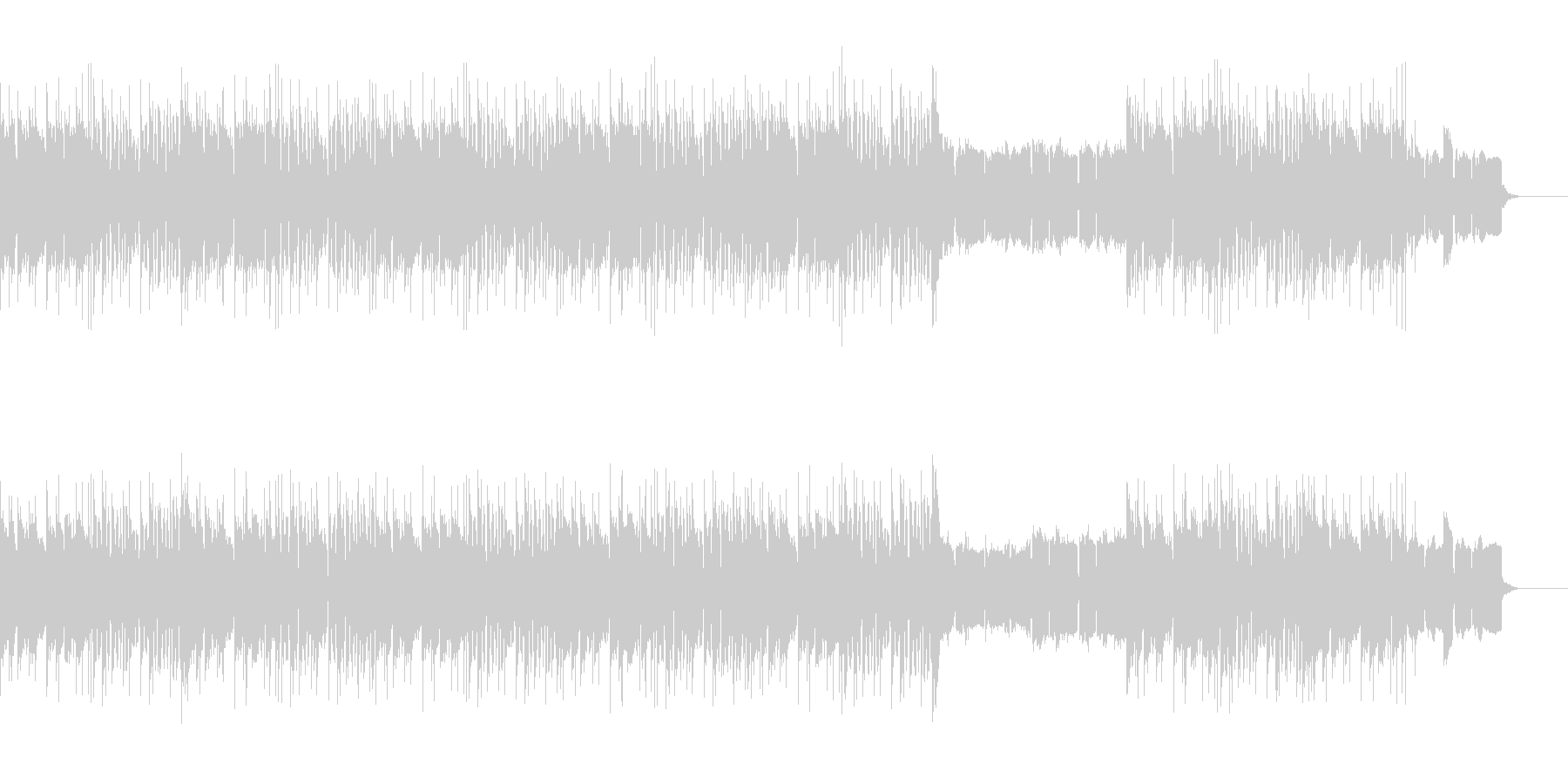 サスペンスダークなハードコアヒップホップの未再生の波形