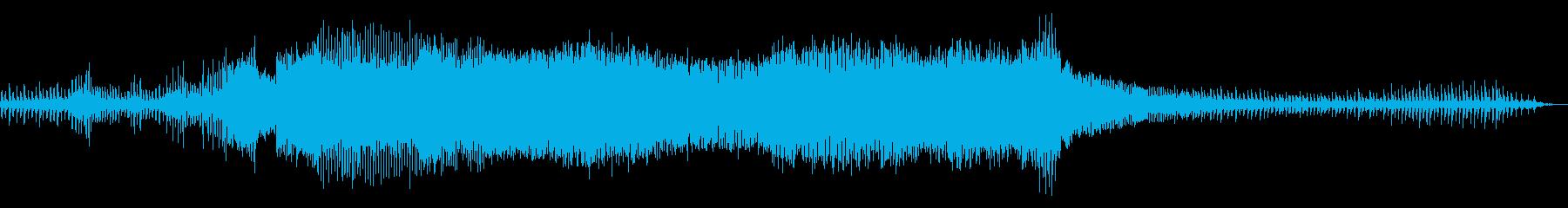 チェーンソーで竹を切る音 ②の再生済みの波形