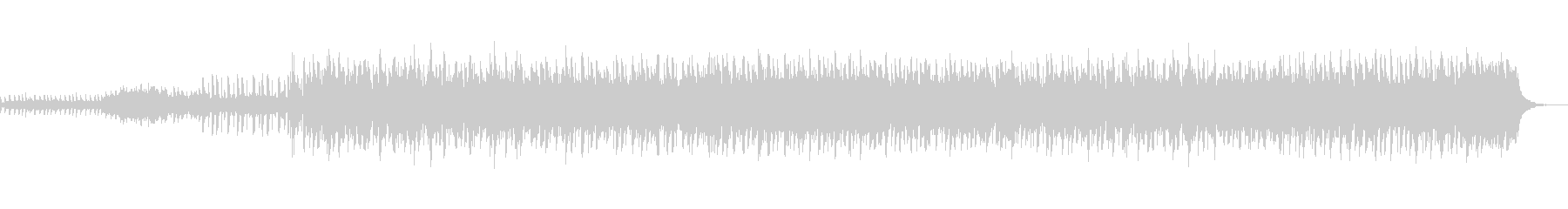 動きの少なく落ち着きのあるテクノ風BGMの未再生の波形