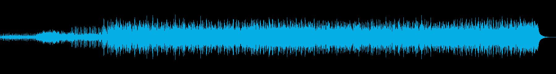 動きの少なく落ち着きのあるテクノ風BGMの再生済みの波形