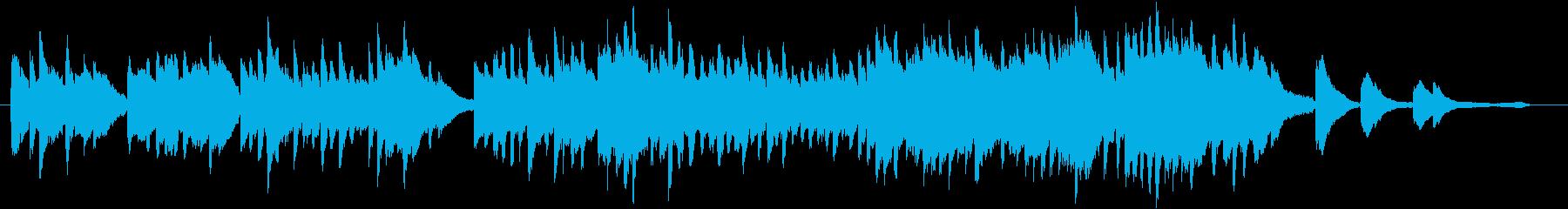 優しい揺れを感じるピアノソロの再生済みの波形