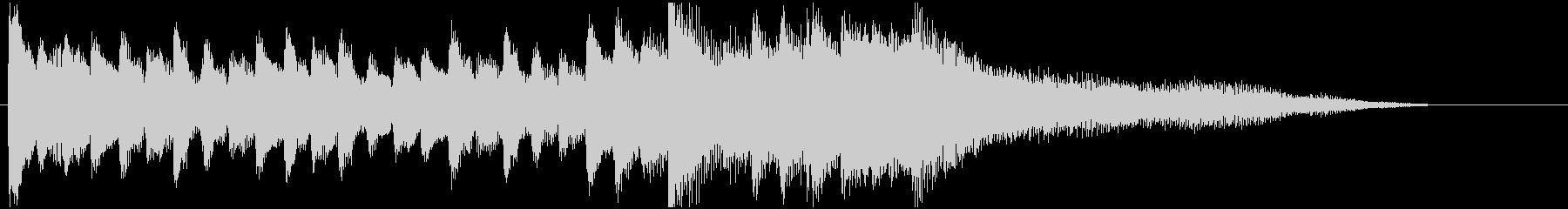ピアノとベルとウインドチャイムのジングルの未再生の波形