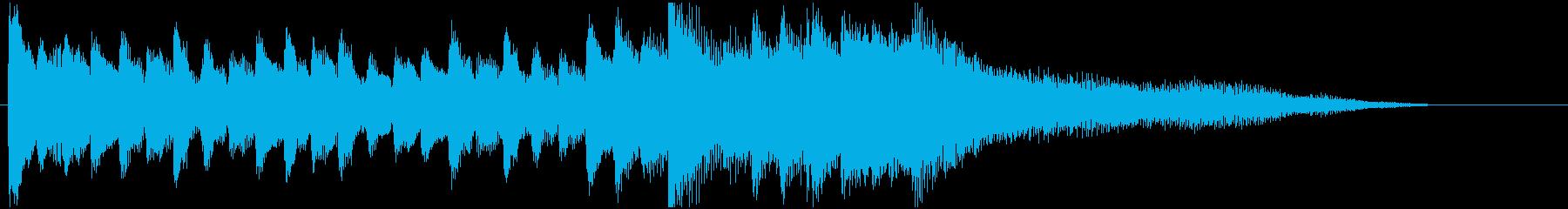 ピアノとベルとウインドチャイムのジングルの再生済みの波形