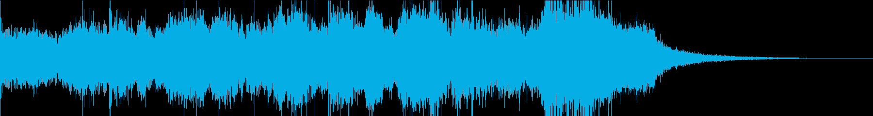 壮大で迫力のあるオーケストラジングルの再生済みの波形