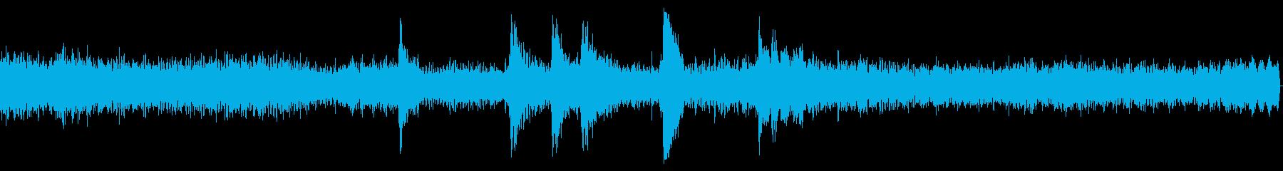 ガガガガ(騒がしい音)の再生済みの波形