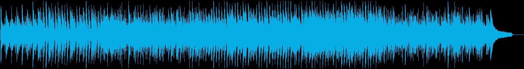 ハッピーで爽やか、楽しい明るいウクレレ曲の再生済みの波形