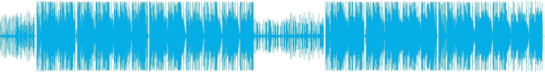 シンプルなTrapBeatの再生済みの波形