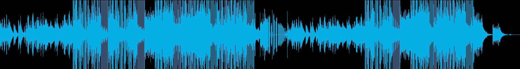 不思議な雰囲気のシンセBGMの再生済みの波形