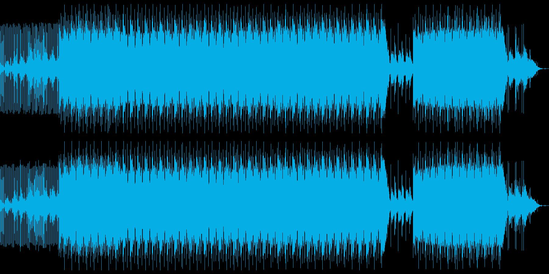 暗いシンプルなトラップ系楽曲の再生済みの波形